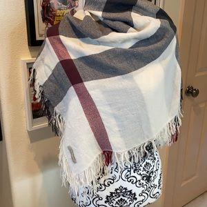 Authentic Burberry large plaid square scarf
